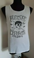 TBar Muscle Shirt White Size S Brixton Hooligans Night Riders Black Graphics
