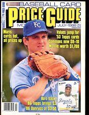 SCD Baseball Card Price Guide July 1988 Bo Jackson EX No ML jhscd5