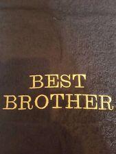 Bordado Personalizado Toalla Con (Mejor Hermano) en negro una gran idea del regalo