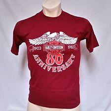 VTG 1983 Harley Davidson T Shirt 80's 80th Anniversary 50/50 Thin Trucker Medium