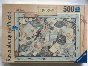 Brand New Ravensburger 500 Piece Jigsaw Puzzle - OLD STUFF - BAKING - L.J.SMITH