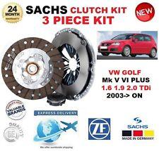 Pour VW Golf V VI PLUS 1.6 1.9 2.0 TDI 2003 - > Sachs 3 pièces New Clutch Kit Boxed