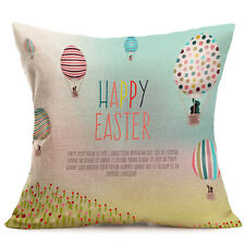 Easter Cute Rabbit Sofa Bed Home Decoration Festival Pillow Case Cushion Cover N# Three Eggs in The Grass
