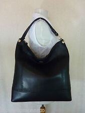 NWT Furla Onyx/Black Leather Bonnie Hobo/Tote Bag $398 - Made In Italy