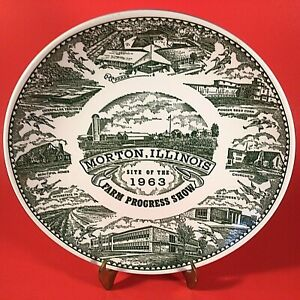 "FARM PROGRESS SHOW COLLECTORS PLATE 1963 MORTON ILLINOIS 10"" VINTAGE JAYCEES"