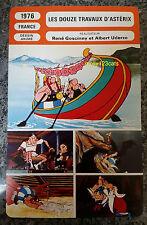 The Twelve Tasks of Asterix Movie Goscinny & Uderzo French Film Trade Card