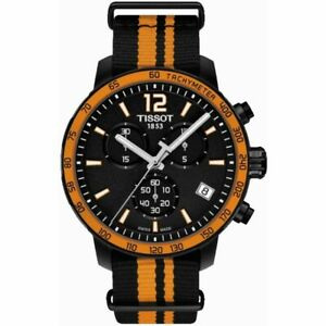 Tissot Swiss Made T-Sport Quickster Black PVD Chrono Men's Nato Strap Watch