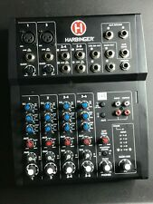 Harbinger L802 8-Channel Compact Mixer with 2 Xlr Mic Preamps
