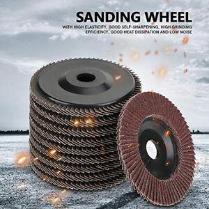 10pcs 100mm Aluminum Flap Discs Sanding Grinding Pad Angle Grinder Wheel 60 Grit