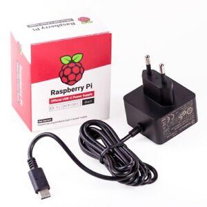 Raspberry Pi 4 USB-C Netzteil 5.1V 3A Offizielles Netzteil schwarz