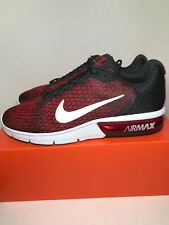 3c251dc0e6338 Nike Air Max Sequent 2 Black Red 852461-006 Running Shoes Men s - Size