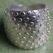 Tribe Pure Silver Size.Us=8 Uk=P.Adjustable Hand made Ring Karen Hill