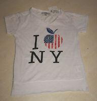 Tee-shirt blanc neuf taille 8 ans marque LFM (b)