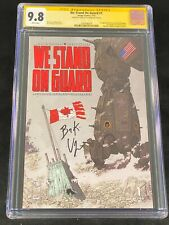 We Stand On Guard #1 CGC 9.8 SS Brian K Vaughan 2015 Image First Two-Four A171