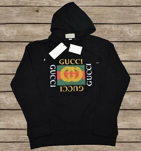 Gucci Hooded Oversized Sweatshirt Gucci Vintage For Men Size S