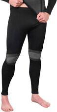 1 Stk Herren Sport Funktionswäsche seamless Unterhose lang schwarz/grau S/M