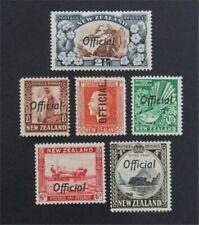 nystamps British New Zealand Stamp # O50//O68 Mint OG H      S17y3084