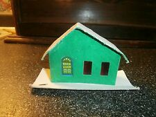 vintage cardboard christmas house for miniature village japan