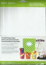 NEW Cricut Explore Printable Sticker Paper, 12 sheets, 8.5 in x 11 in, white