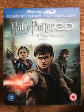 Harry Potter And The Deathly Hallows Part 2 3D Blu-ray w/ Lenticular Slipcover