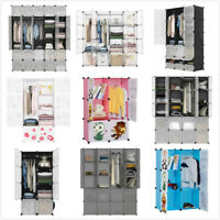 Cube DIY Modular Closet Organizer Clothes Wardrobe Rack Storage Cabinet Shelf US