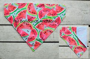 Dog Bandana Watermelon Melon Summer Pink Blue Cat Scarf Over The Collar XS-XL
