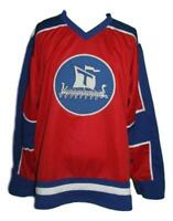 Any Name Number Size Team Norway Custom Hockey Jersey Red