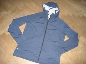 Kapuzen-Jacke  NIKE   Gr. M bzw 48/50  DRI FIT  dunkelblau Trainingsjacke