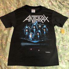 Vtg Anthrax Persistence of Time T Shirt Tour Thrash Slayer Metallica Testament