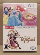 Wii Disney Princess Enchanted Journey Tangled Box Set Target New Sealed
