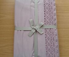 JOHN LEWIS CROCHET BORDER THROW 100% COTTON IN PALE PINK RRP £60 - CLEARANCE