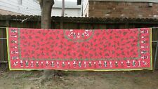 """Printed Red Santa Holly Christmas Rectangle 98""""X56"""" Tablecloth Free Shipping"""