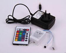 24 KEY IR INFRARED REMOTE CONTROLLER+12V POWER ADAPTOR FR RGB STRIP/ FLOOD LIGHT