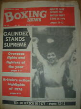 BOXING NEWS DECEMBER 31 1976 VICTOR GALINDEZ OVERSEAS FIGHTER OF THE YEAR