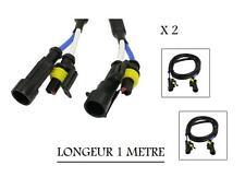 2 RALLONGE POUR AMPOULES DE KIT XENON - LONGEUR 1 METRE