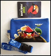 ANGRY BIRDS BLUE LANYARD WITH DETACHABLE COIN POUCH/WALLET/PURSE BY ROVIO-NEW