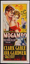MOGAMBO MOVIE POSTER R60's Australian Daybill CLARK GABLE AVA GARDNER