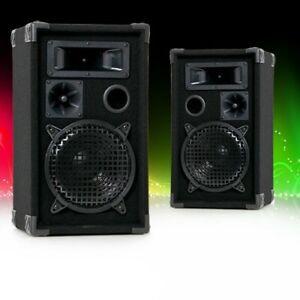 600W Lautsprecherpaar 3-Wege Party DJ Boxen PA-Lautsprecher Lautsprecherboxen