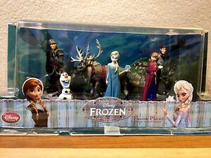 Disney Store Frozen Figurine Playset 6 Figures Cake Toppers  Anna Elsa Sven Olaf
