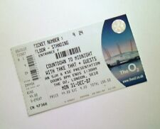 TAKE THAT TICKETS - Mint Condition Ticket O2 Arena London 31/12/07 Memorabilia