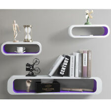 Wall Shelves Floating Wall Mounted Shelf MDF Set of 3 Cube Purple URG9230dla