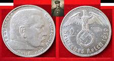 DEUTSCHES REICH  2 REICHSMARK 1939 G KARLSRUHE  Paul v Hindenburg  SS J. 366