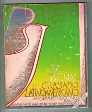Art Catalog IV Bienal Del Grabado Latiamericano San Juan Puerto Rico 1979 ICP