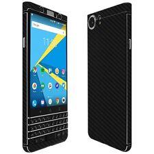 Skinomi Black Carbon Fiber Skin+Clear Screen Protector for BlackBerry KEYone