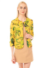 RRP €205 LABORATORIO Blazer Jacket Size 40 Floral Open Front Made in Italy
