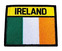 Ireland Flag Patch Hook + Loop Embroidered Badge Tactical Morale Irish Army EIRE
