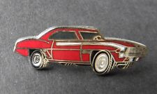 1969 CHEVY CAMARO CHEVROLET RED AUTOMOBILE CAR LAPEL HAT PIN 1 INCH