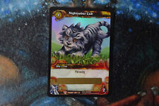 WoW Warcraft Card - 1 x Nightsaber Cub LOOT Card - Ccg tcg - Unscratched