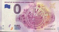 BILLET 0 EURO SOUVENIR TOURISTIQUE EUROSCHEIN MINIATUR WUNDERLAND HAMBURG 2019-6