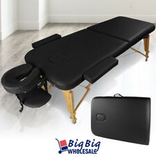 Portable Foldable Massage Table Bed Spa Facial Salon Tattoo Black Carry Case
